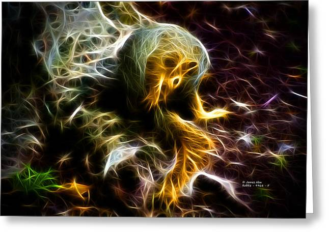 Sciurus Niger Greeting Cards - Take a Bow - Fractal - Robbie the Squirrel - Fractal Greeting Card by James Ahn