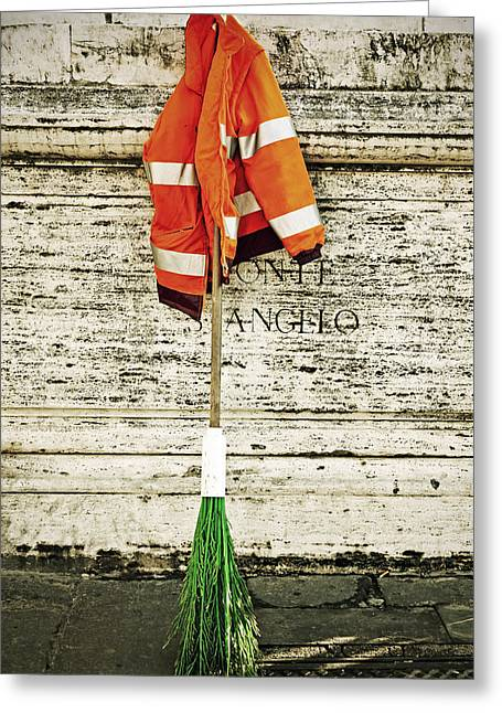 Street Sweeper Greeting Cards - Take A Break Greeting Card by Joana Kruse