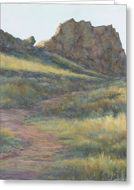 Hiking Pastels Greeting Cards - Take a Hike Greeting Card by Billie Colson