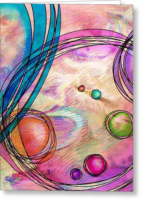Hallucination Digital Art Greeting Cards - Take a right up here Greeting Card by Rachel Christine Nowicki