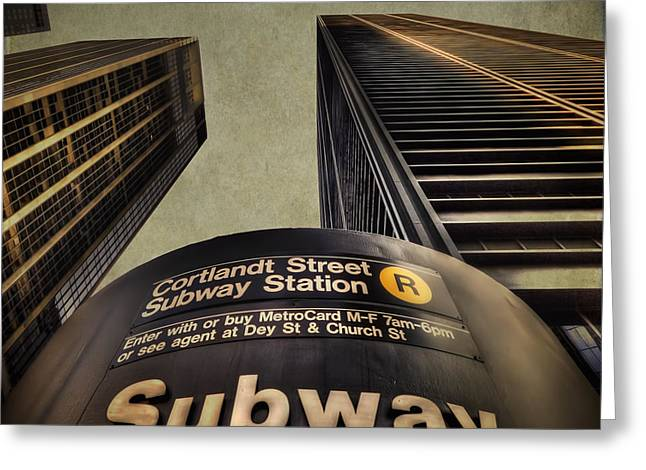 Subway Greeting Cards - Take Me Home Greeting Card by Evelina Kremsdorf