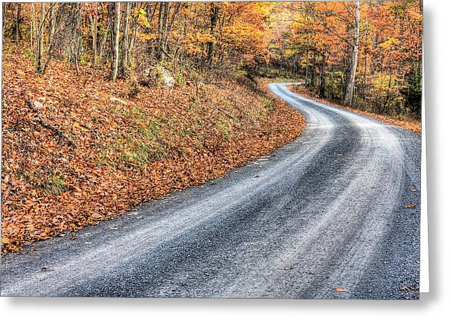 Blue Ridge Parkway In Fall Greeting Cards - Take Me Home Country Roads Greeting Card by JC Findley