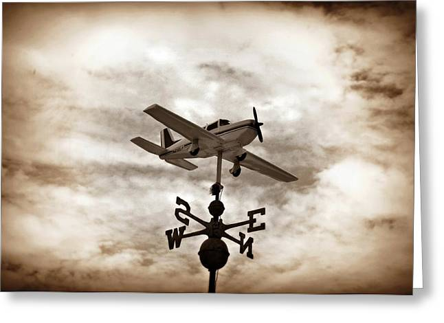Weathervane Digital Art Greeting Cards - Take Me to the Pilot Greeting Card by Bill Cannon