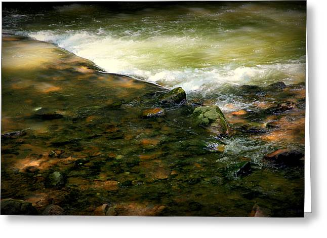 Rushing Water Greeting Cards - Beautiful River Greeting Card by Karen Wiles