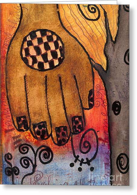 Sketchbook Greeting Cards - Take My Hand Greeting Card by Angela L Walker