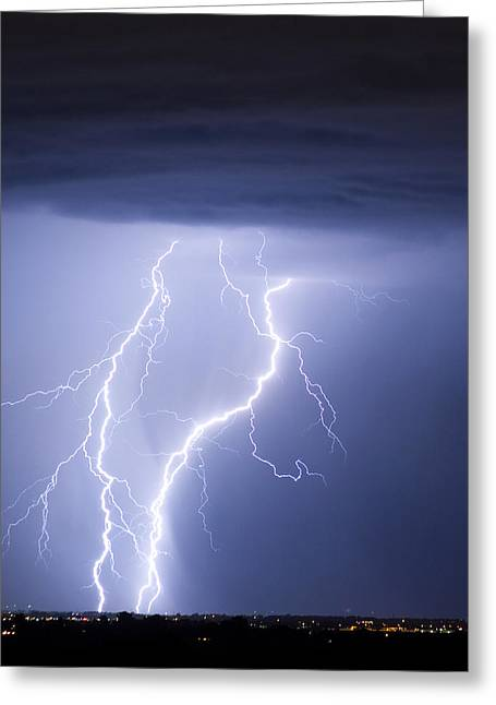 Images Lightning Greeting Cards - Taking It To The Ground Greeting Card by James BO  Insogna