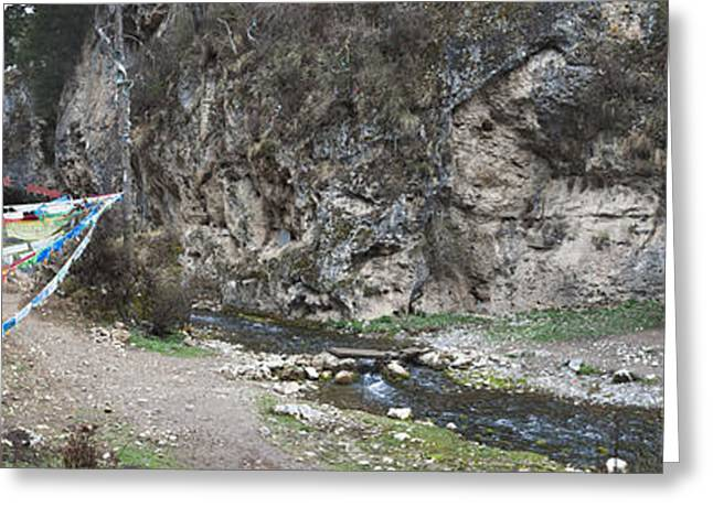 Water Flowing Greeting Cards - Taktsang Lhamo Path Greeting Card by Phil Borges