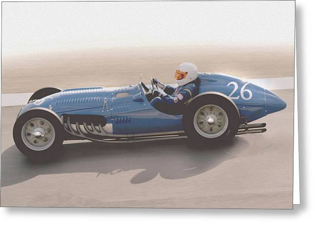 Indy Car Greeting Cards - Talbot Lago T26c 1950  Greeting Card by Curt Johnson