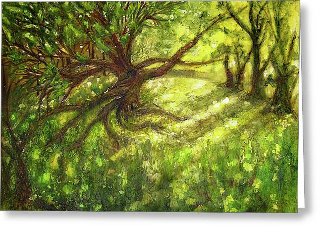 Tree Roots Greeting Cards - Tales Greeting Card by Martine Letoile