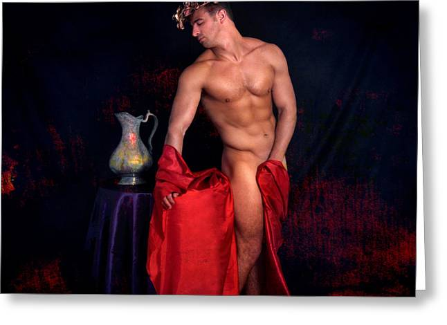 Sensuality Mixed Media Greeting Cards - Talk About It Greeting Card by Mark Ashkenazi