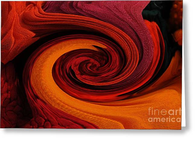 Cotton Muslin Greeting Cards - Talking Textiles Greeting Card by Lyn Baker