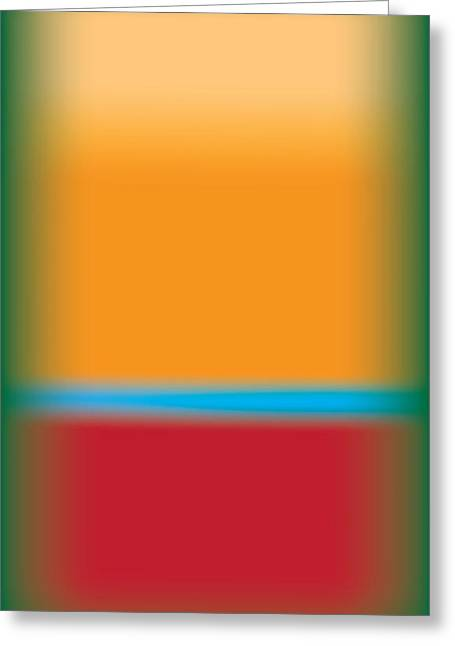 Rothko Greeting Cards - Tall Abstract Color Greeting Card by Gary Grayson