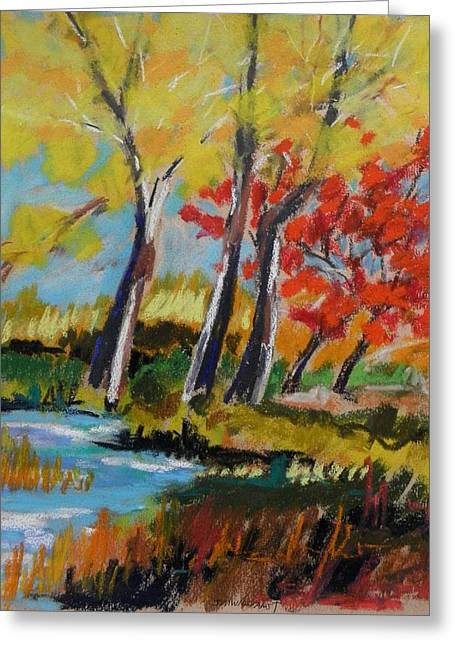 Fall Grass Drawings Greeting Cards - Tall and Golden Greeting Card by John  Williams