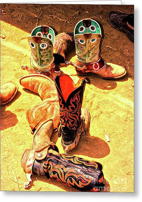 Ventura California Greeting Cards - Tall Boots Greeting Card by Gus McCrea