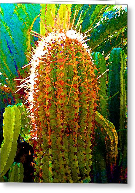 Tall Cactus Greeting Card by Amy Vangsgard