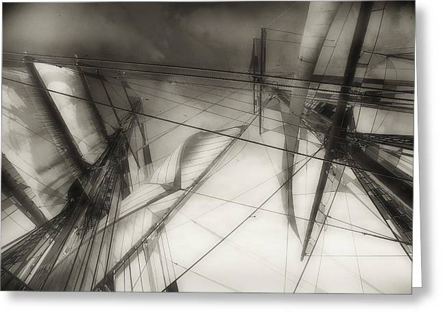 Tall Ships Greeting Cards - Tall Rigging Greeting Card by Lynn Andrews