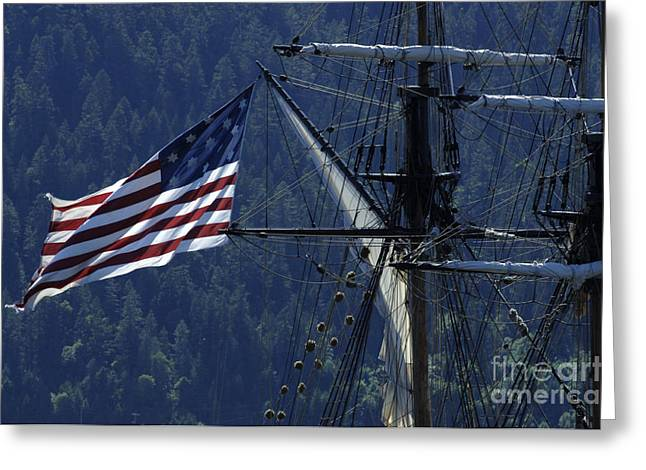 Tall Ship 3 Greeting Card by Bob Christopher