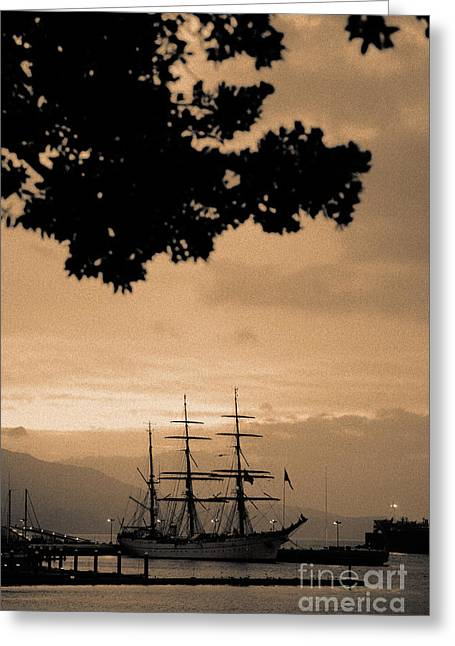 Tall Ships Greeting Cards - Tall ship Gorch Fock Greeting Card by Gaspar Avila