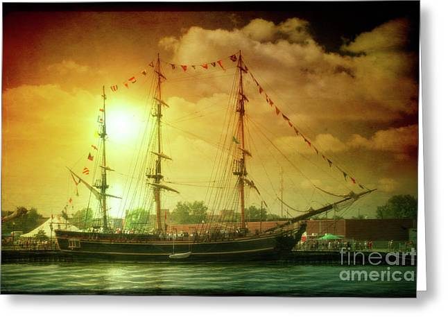 Tall Ships Greeting Cards - Tall Ship Greeting Card by Joel Witmeyer