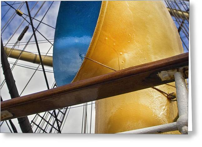 Tall Ship Greeting Card by Robert Lacy