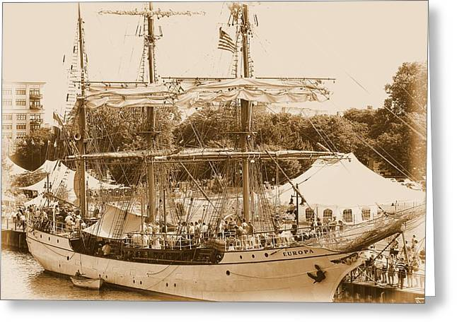 Tall Ship Series 6 Greeting Card by Scott Hovind