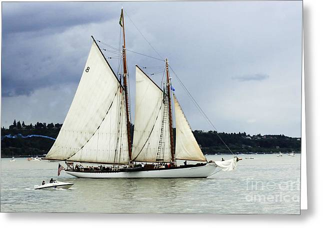 Tall Ship Tacoma Greeting Card by Bob Christopher