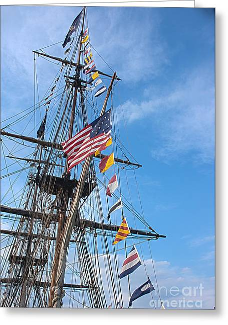 Tall Ships Greeting Cards - Tall Ships Banners Greeting Card by David Bearden