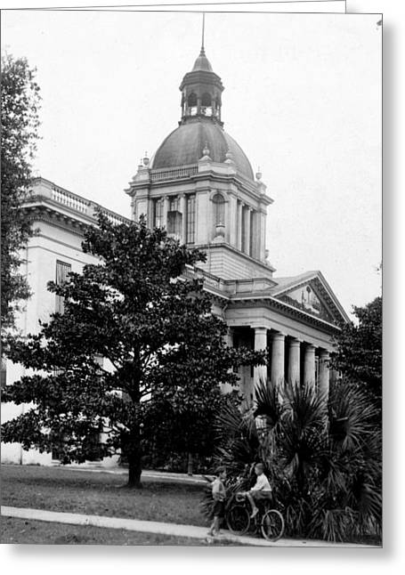 Old Street Greeting Cards - Tallahassee Florida - State Capitol Building - c 1929 Greeting Card by International  Images