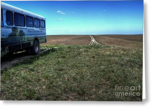 Tallgrass Prairie National Preserve Greeting Cards - Tallgrass Tour Greeting Card by Fred Lassmann