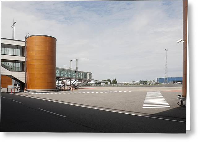 Tallinn Greeting Cards - Tallinn Airport Buildings And Storage Greeting Card by Jaak Nilson