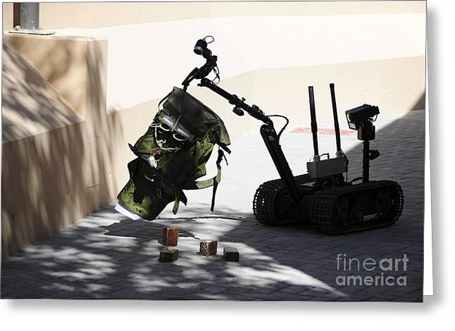 Bahrain Greeting Cards - Talon Remote-controlled Robot Greeting Card by Stocktrek Images
