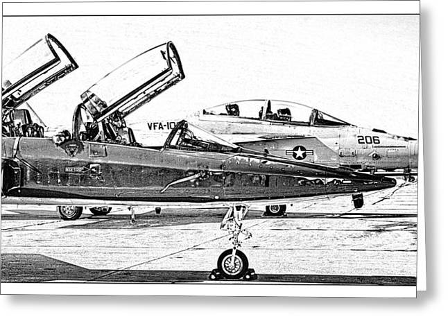 Jet Print Greeting Cards - Talon vs. Hornet Greeting Card by Ricky Barnard