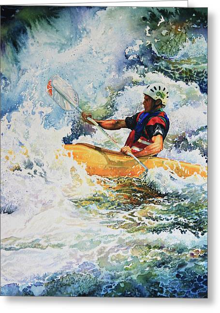 Action Sports Art Greeting Cards - Taming Of The Chute Greeting Card by Hanne Lore Koehler