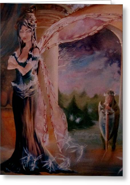 Tamlin Fairy Queen Poem Greeting Cards - Tamlin Greeting Card by Jackie Rock