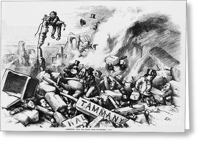 Political Satire Greeting Cards - Tammany Hall Greeting Card by Photo Researchers
