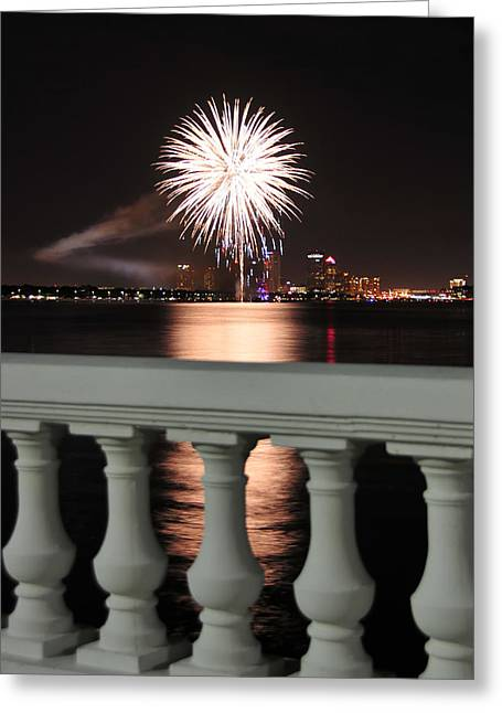 Tampa Bay Fireworks Greeting Card by David Lee Thompson