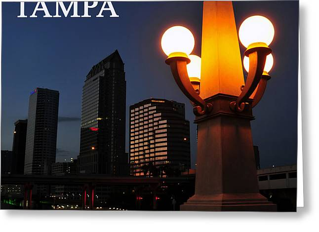 Night Lamp Photographs Greeting Cards - Tampa style Greeting Card by David Lee Thompson