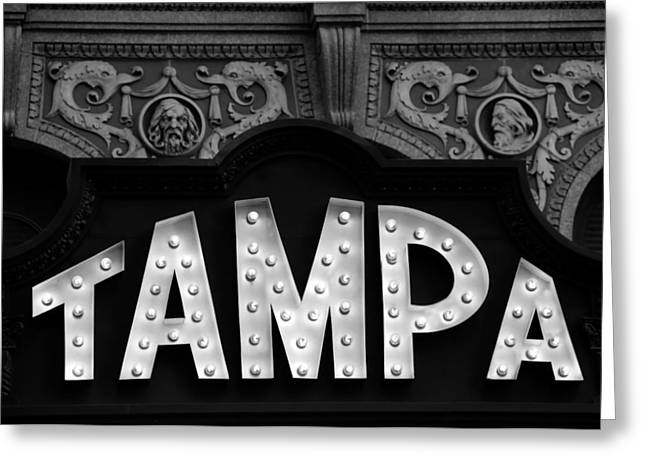 Movie Theatre Greeting Cards - Tampa Theatre 1926 Greeting Card by David Lee Thompson
