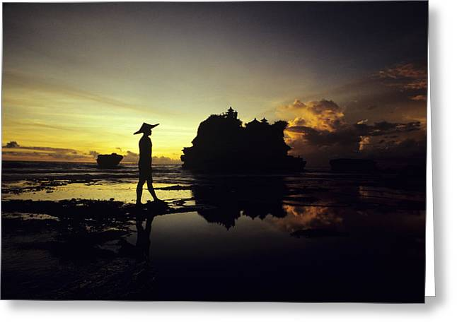 Asian Influence Greeting Cards - Tanah Lot Temple Greeting Card by William Waterfall - Printscapes