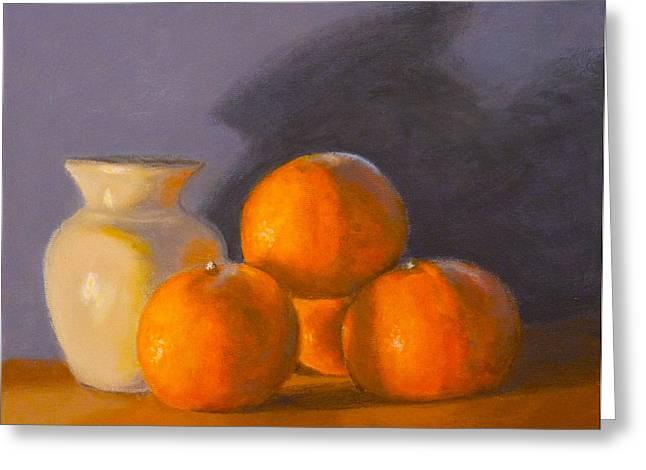 Tangerines Greeting Card by Joe Bergholm