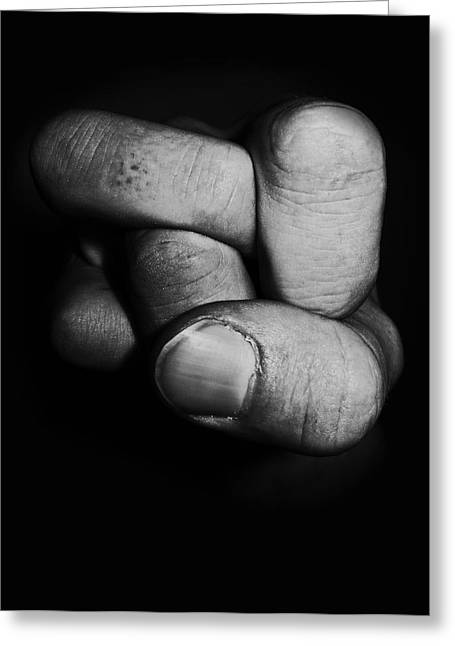 Fist Greeting Cards - Tangled fist Greeting Card by Nicklas Gustafsson