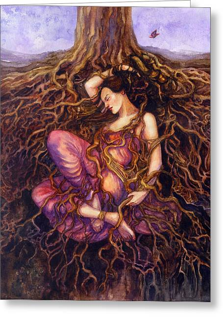 Dryad Greeting Cards - Tangled Greeting Card by Janet Chui