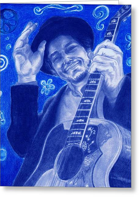 Bob Gibson Greeting Cards - Tangled up in Blue Greeting Card by Kathleen Kelly Thompson