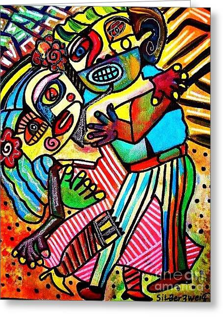 Home Of The Spirit Greeting Cards - Tango Dance of Love Greeting Card by Sandra Silberzweig