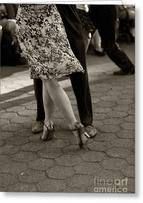 Leda Photography Photographs Greeting Cards - Tango in the Park Greeting Card by Leslie Leda
