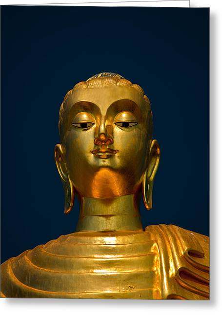 Religious Statue Greeting Cards - Tangsai Buddha Greeting Card by Adrian Evans