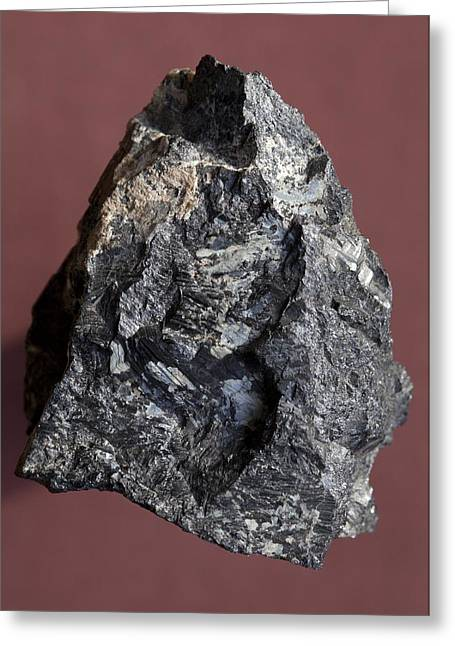 Tantalum Greeting Cards - Tantalite Mineral Greeting Card by Dirk Wiersma