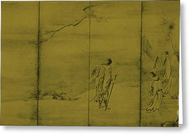 Japanese School Greeting Cards - Taoist Immortals Greeting Card by Photo Researchers