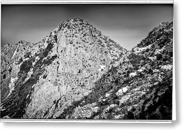 Mountains With Snow Greeting Cards - Taos Mountain 3 Greeting Card by Lisa  Spencer