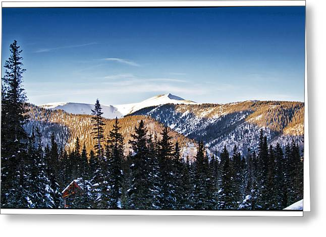 Ski Village Greeting Cards - Taos Mountains Sunset  Greeting Card by Lisa  Spencer